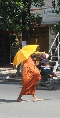 Moine bouddhiste au Cambodge