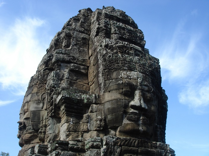 Angkor - tour visage du Bayon
