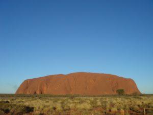 Le rocher sacré d'Uluru
