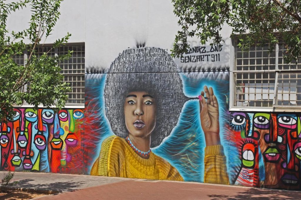 Art de la rue à Maboneng, photo S.Batazzi